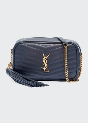 Lou Mini YSL Grain de Poudre Camera Crossbody Bag