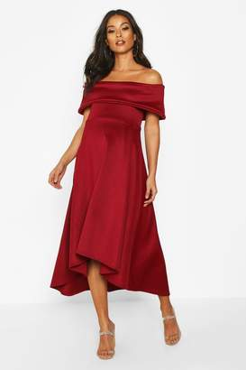 boohoo Maternity Bardot Skater Dress