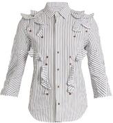 Toga Ruffled cotton-poplin shirt