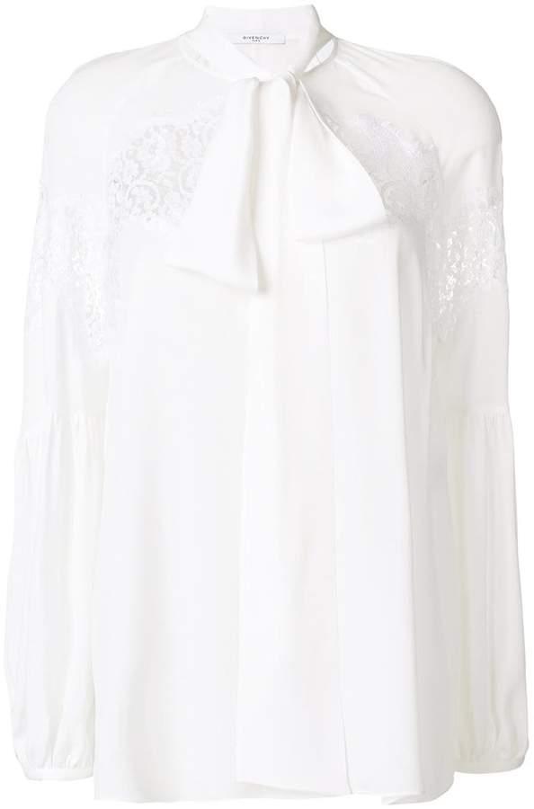 Givenchy tie-neck boxy blouse