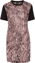 McQ by Alexander McQueen Printed silk-crepe and cotton mini dress