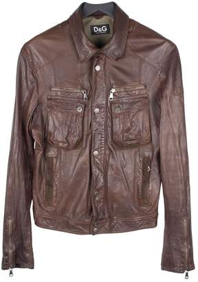 Dolce & Gabbana Brown Leather Jackets