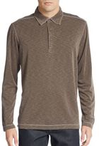 Saks Fifth Avenue Knit Long-Sleeve Polo Shirt