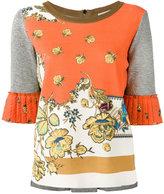 Etro floral print sweatshirt - women - Viscose/Cotton/Linen/Flax/Polyester - 40