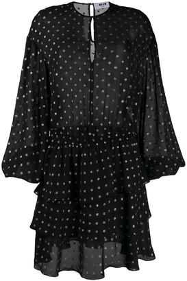 MSGM polka dot ruffle dress