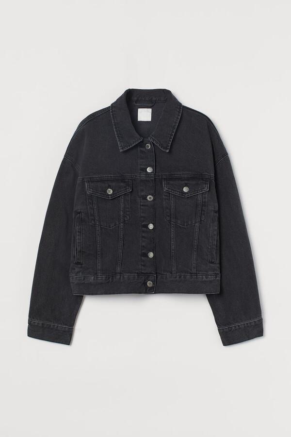 Thumbnail for your product : H&M Boxy Denim Jacket - Black