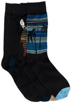 Tommy Bahama Black Multi-Print Socks - Pack of 4