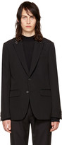 Givenchy Black Studded Lapel Blazer