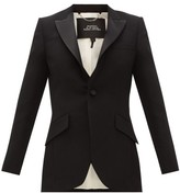 Marc Jacobs Single-breasted Satin-trim Wool Tuxedo Jacket - Womens - Black