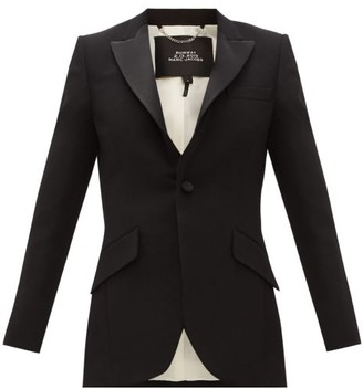MARC JACOBS, RUNWAY Marc Jacobs Runway - Single-breasted Satin-trim Wool Tuxedo Jacket - Black