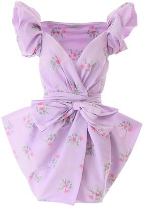 Philosophy di Lorenzo Serafini Flower Print Mini Dress