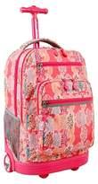 J World J-World Sundance Laptop Rolling Backpack - Pink Forest