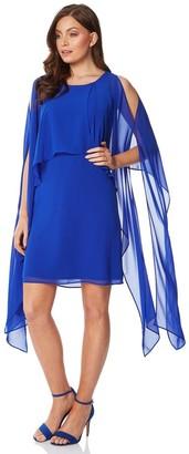 M&Co Roman Originals chiffon cold shoulder sleeve dress