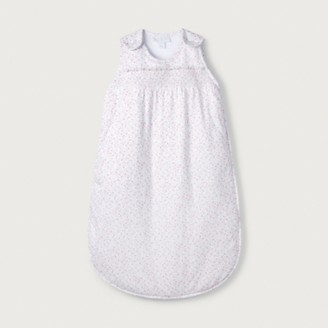 The White Company Ditsy Floral Smocked Sleeping Bag - 2.5 Tog, White, 0-6mths