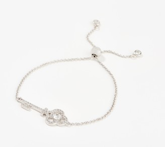 "Diamonique x Lisa Mason ""The Key"" Bracelet, Sterling Silver"