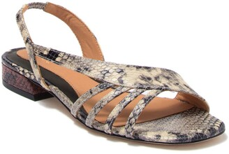 Joie Palma Snake Embossed Leather Asymmetrical Sandal
