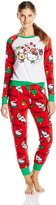 Hello Kitty Women's Ugly Holiday Pajama Set
