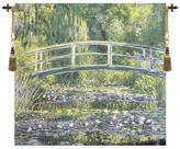 Charlotte Home Furnishings Inc. Bridge At Giverny by Monet European Tapestry Wall Hanging
