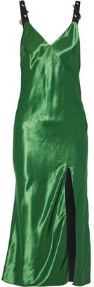 Jason Wu Embellished Satin Midi Slip Dress