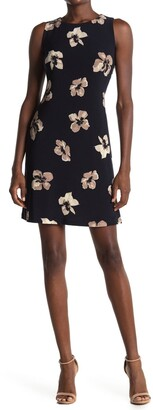 Tommy Hilfiger Floral Sleeveless Jersey Shift Dress