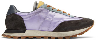 Maison Margiela Purple and Grey Runner Sneakers
