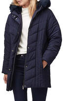 Jacques Vert Jamie Faux-Fur Trim Padded Coat