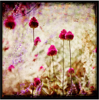 Jonathan Bass Studio Pink Ladies, Decorative Framed Hand Embellished Canvas