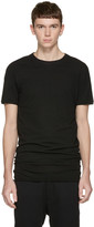 Isabel Benenato Black Double Collar T-shirt