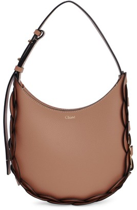Chloé Small Darryl Braided Leather Hobo Bag