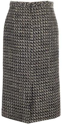 Valentino Tweed Midi Skirt