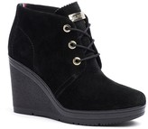 Tommy Hilfiger Suede Wedge Ankle Boot
