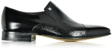 Moreschi Metz Black Leather Slip on Loafer