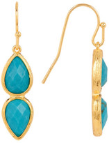Melinda Maria June Turquoise Double Drop Earrings