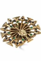 House Of Harlow Peacock Ring with Enamel