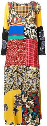 Anjuna patchwork flared maxi dress
