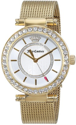 Juicy Couture Womens Quartz Watch Analogue Classic Display and Gold Plated Strap 1901373