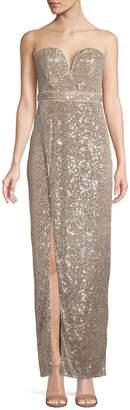 TFNC Gannia Sequin Strapless Maxi Dress