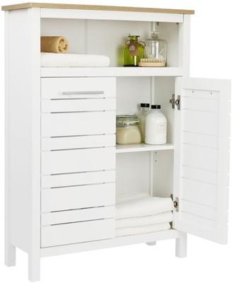 Lloyd Pascal Hampton Bathroom Console Unit - White/Oak Effect
