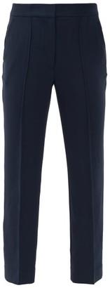 Diane von Furstenberg Jocelyn High-rise Twill Trousers - Navy