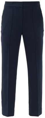 Diane von Furstenberg Jocelyn High-rise Twill Trousers - Womens - Navy