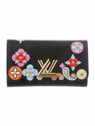 Louis Vuitton 2017 Epi Bloom Twist Chain Wallet Noir