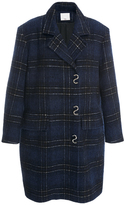 Tibi Dominic Oversized Plaid Wool-Blend Coat