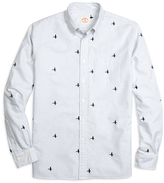 Brooks Brothers Mallard Duck Embroidered Stripe Sport Shirt