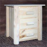 Asstd National Brand Frontier Pine 3-Drawer Nightstand