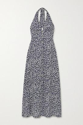 Heidi Klein Leopard-print Crepe De Chine Halterneck Maxi Dress - Leopard print