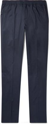 Loro Piana Stretch-Cotton Twill Drawstring Trousers