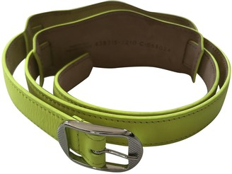 Balenciaga Yellow Leather Belts