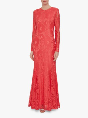 Gina Bacconi April Stretch Lace Maxi Dress