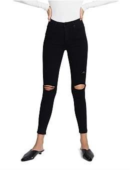 Nobody Denim Cult Skinny Distressed Ankle Jean