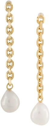 Wouters & Hendrix Chain Long Pearl Earrings